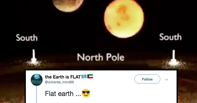 twitter flat earth morons social media ridiculous reaction funny stupid - 7990533