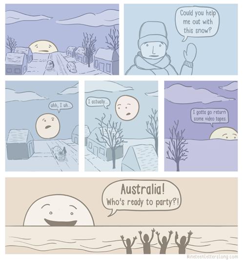 australia Party sun web comics - 7990564352
