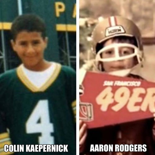 aaron rodgers,kids,nfl,sports,colin kaepernick