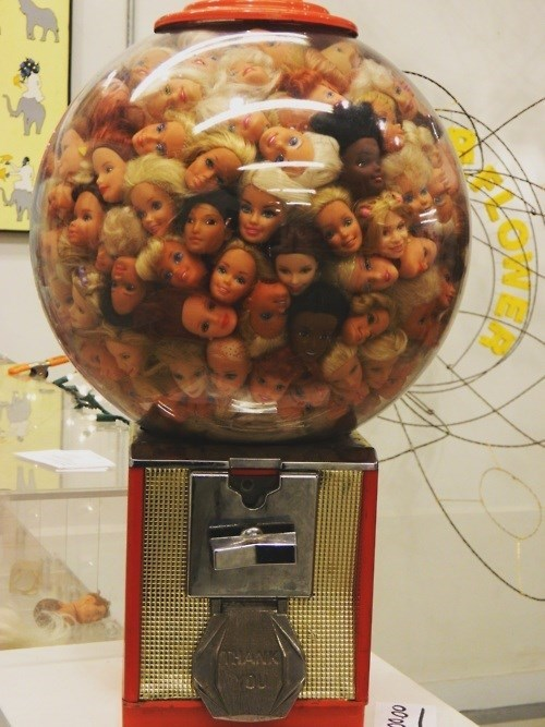 gumball machine,wtf,barbie heads