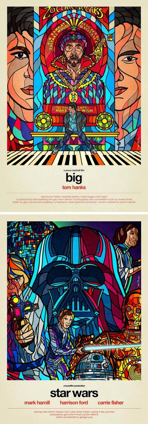 80s Fan Art movies movie posters stained glass - 7990743552