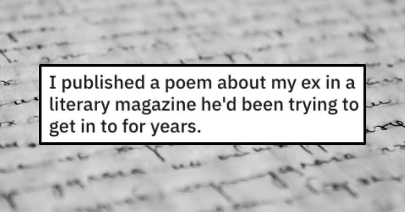 woman gets revenge on ex by becoming a better poet than him