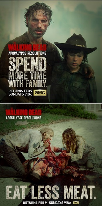 ads amc new years resolutions The Walking Dead - 7990847744