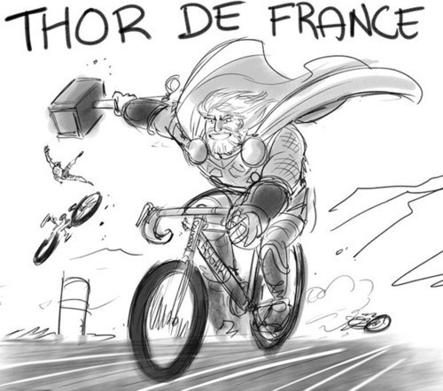 Fan Art,puns,Thor,tour de france