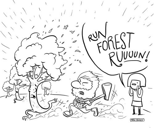 axes,forests,tree,web comics