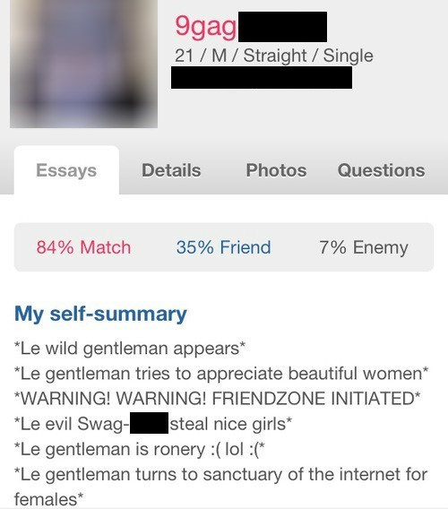 9gag forever alone friendzone online dating cringe - 7991222528