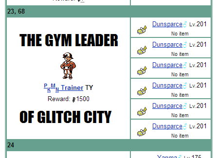 dunsparce glitches - 7991238912