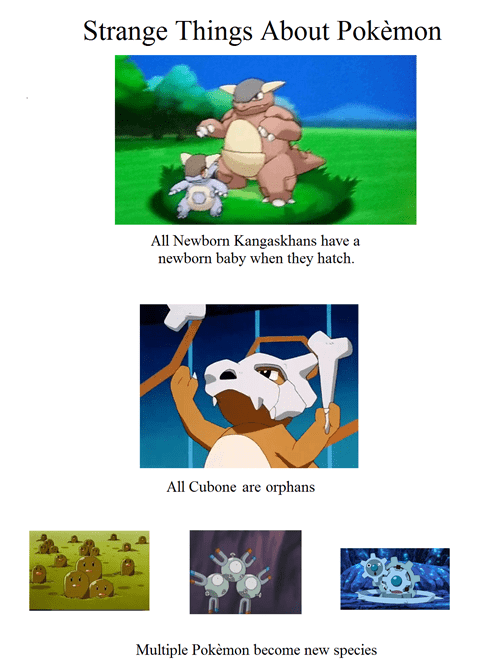 Weird Things About Pokemon