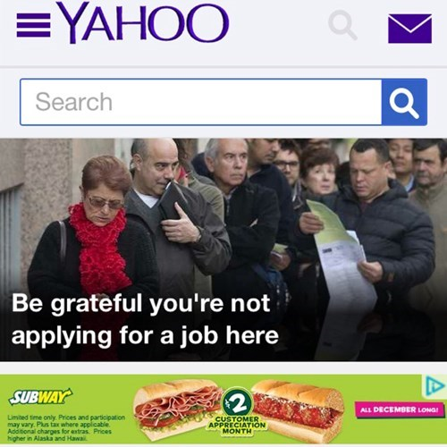 ads ad placement yahoo Subway - 7991866112
