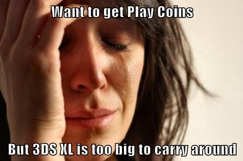 Want to get Play Coins But 3DS XL is too big to carry around