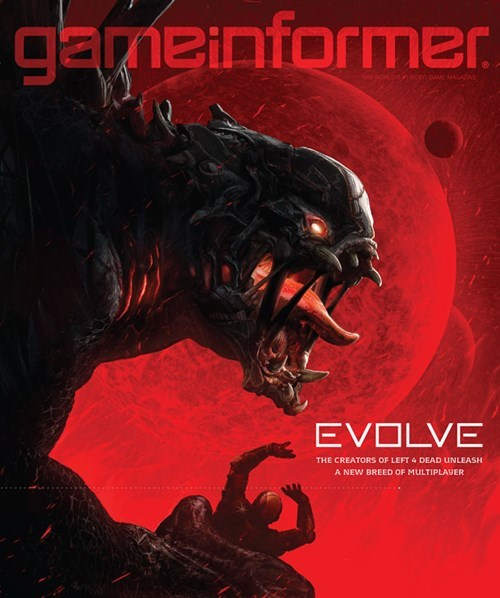 Evolve is on the February Cover of Game Informer