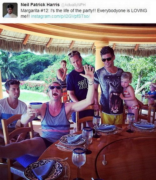 Neil Patrick Harris,celebrity twitter,margarita,vacation,failbook