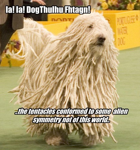Ia! Ia! DogThulhu Fhtagn! ..the tentacles conformed to some alien symmetry not of this world..