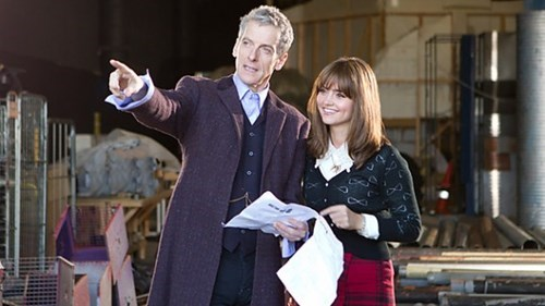 behind the scenes Peter Capaldi 12th Doctor - 7992101888