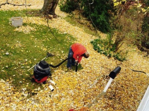 raking leaves there I fixed it vacuums - 7992175872