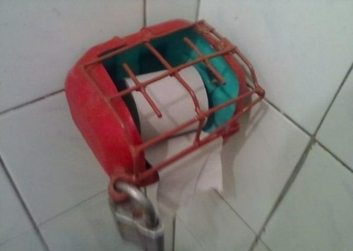 security locks there I fixed it toilet paper - 7992216832