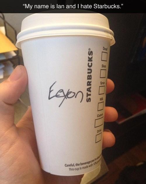 baristas,spelling,Starbucks,ian,names,starbucks cups