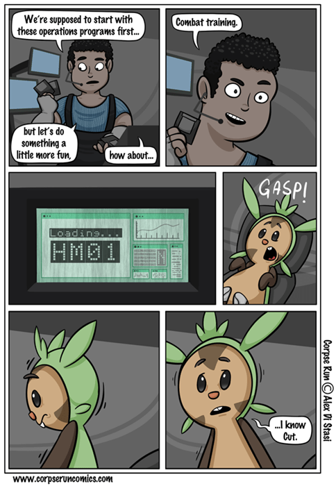 Pokémon chespin hm01 cut web comics - 7992377856