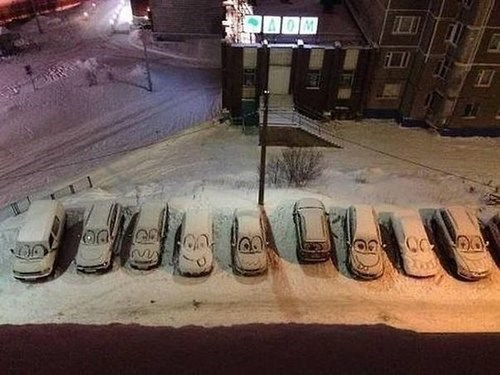 snow,cars,hacked irl