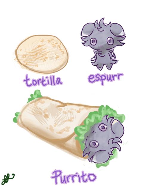 burritos puns Pokémon espurr - 7992456192