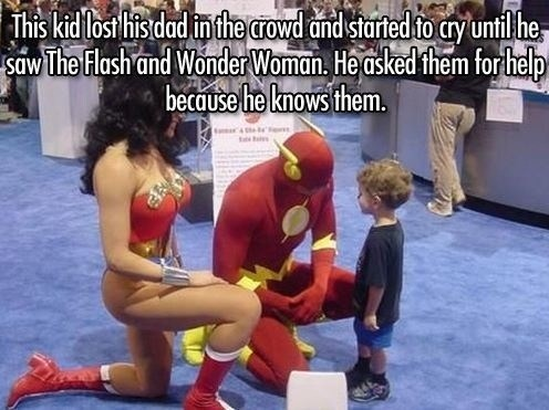cute superheroes random act of kindness