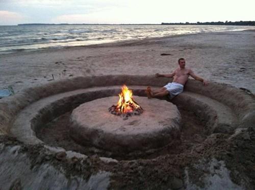 beach fire pit summer - 7992632064