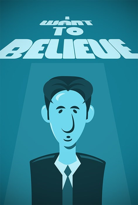 x files Mulder I WANT TO BELIEVE - 7992675840