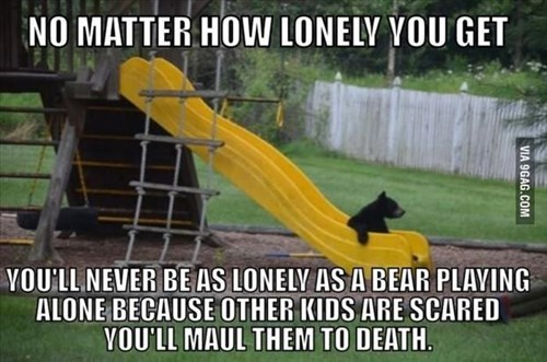 bears,park,slide,lonely
