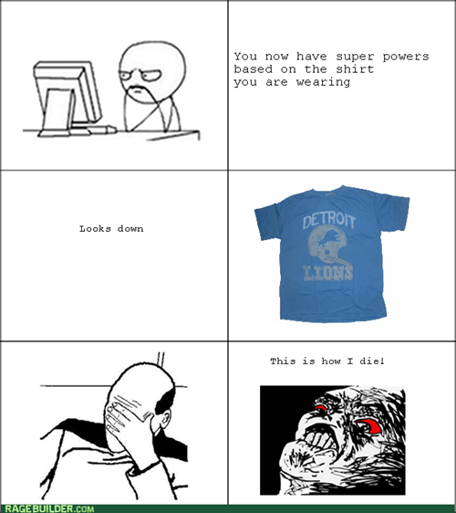 computer guy detroit lions Memes t shirts sports superpowers - 7992773632