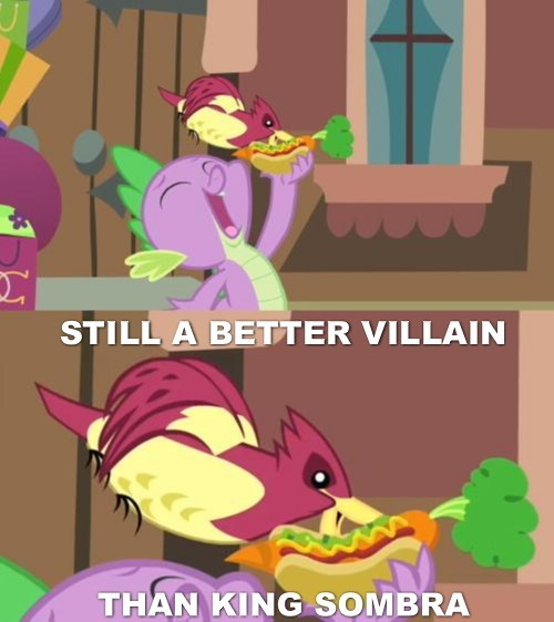 king sombra,spike,better villain