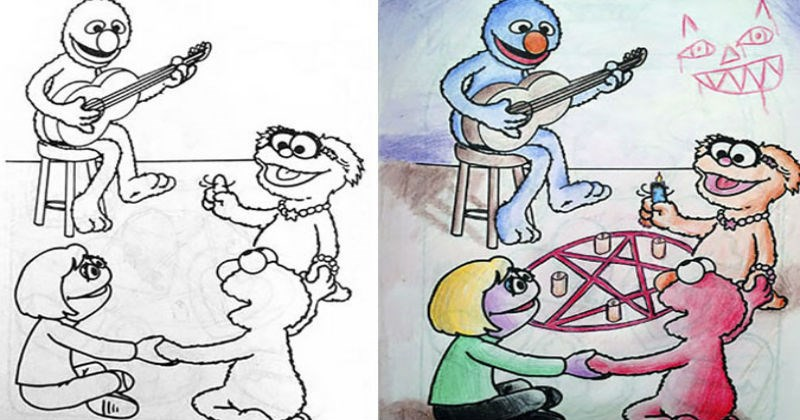 coloring book dark humor ridiculous adults funny - 7993605