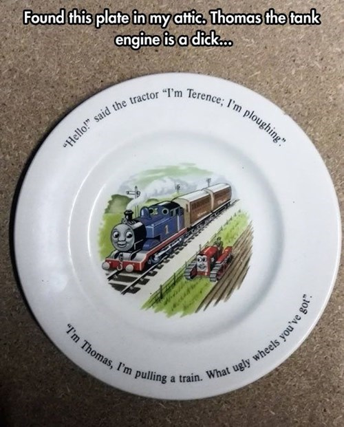 kids thomas the tank engine parenting plates - 7993672960