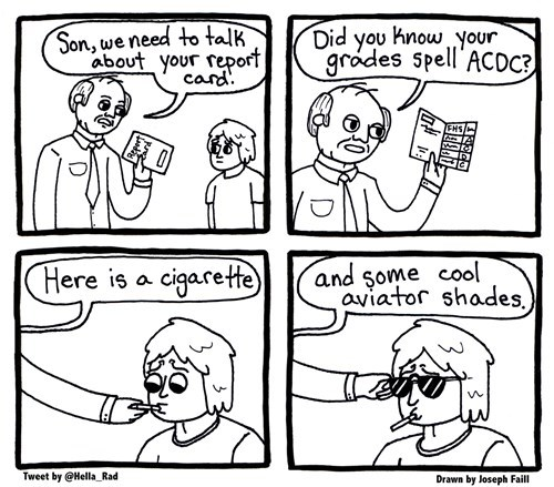 acdc,school,sun glasses,cool dads,web comics