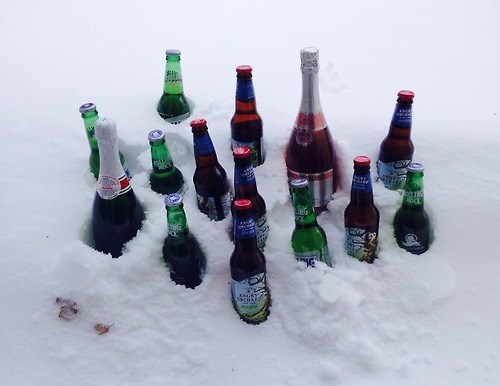 beer,snow,winter,funny,bottles