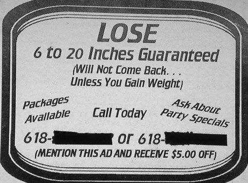 advertisement newspaper weight loss