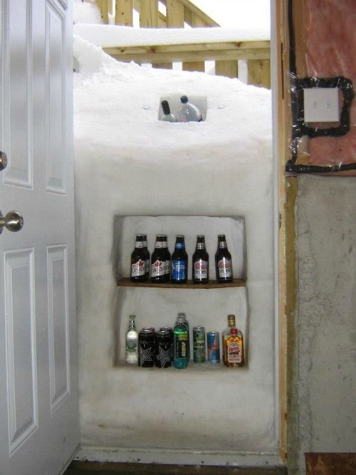 freeze cooler snow winter life hacks