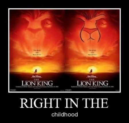 childhood disney lion king Sexy Ladies funny - 7993909504