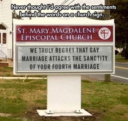 church,church signs,gay marriage,marriage