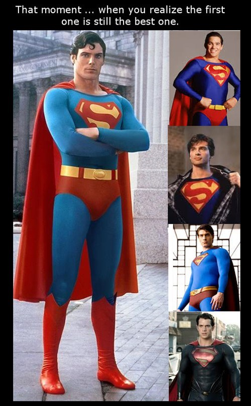actors Christopher Reeve George Reeves superman