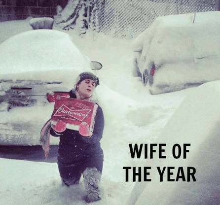 beer snow funny wife of the year - 7993983488