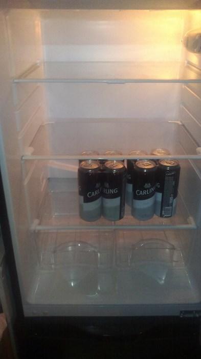 beer fridge empty funny - 7994002944