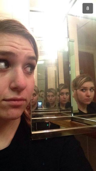 photobomb mirrors selfie - 7994055424