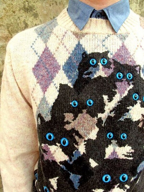 crazy cat lady,sweaters,Cats,weird