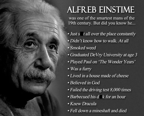albert einstein funny fun facts - 7994130432