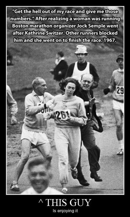 boston marathon enjoy that guy funny sexist - 7994141952