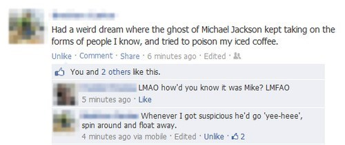 michael jackson,dreams,ghosts,failbook