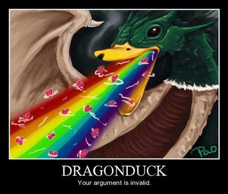 dragon duck wtf argument funny - 7994184448