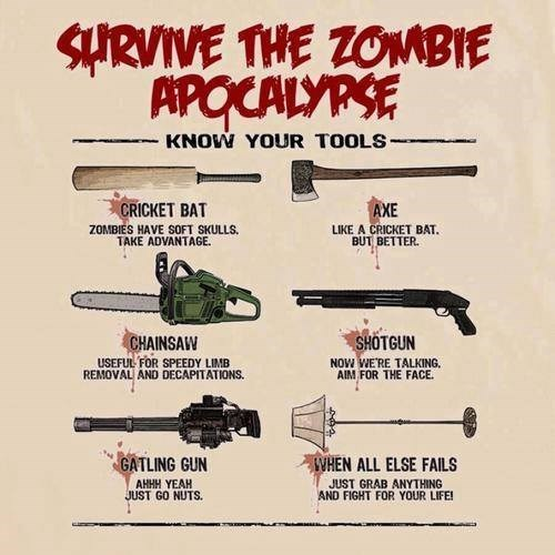 Weapon Of Choice,zombie apocalypse,weapons