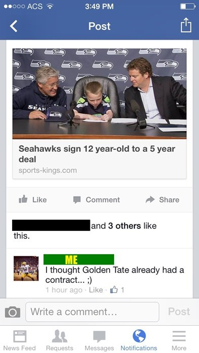 seattle seahawks,comments,golden tate,football