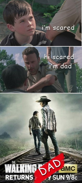 carl grimes Rick Grimes walking dad - 7994249216